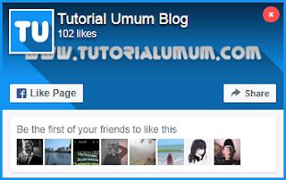 Cara Membuat Popup Like Facebook di Blog - Blog Regi Brader